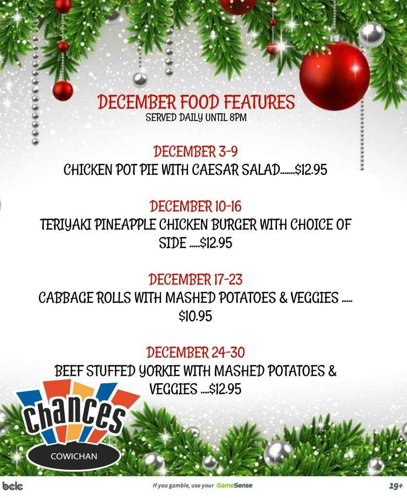December Food Features