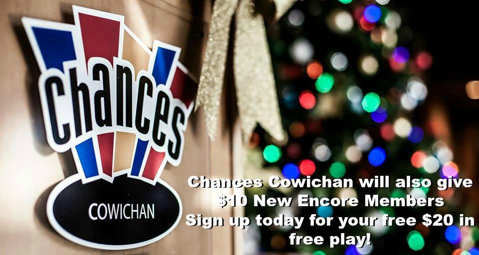 Chances $10 free play Encore