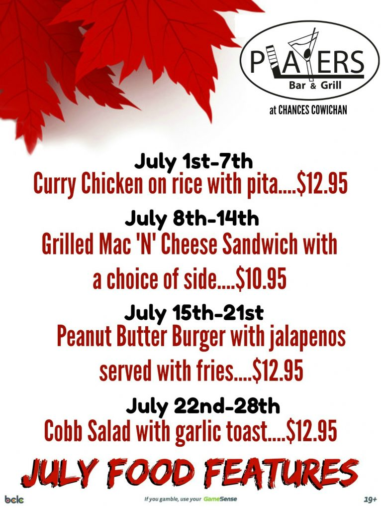 July Food Features!